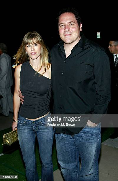 Actor Jon Favreau and his wife Joya Tillem attend the world premiere of the Universal Feature Wimbledon at the Academy of Motion Pictures Arts and...