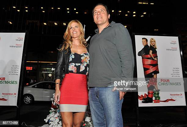 Actor Jon Favreau and wife Joya Tillem arrive on the red carpet of the Los Angeles Premiere of Four Christmases held at the Grauman's Chinese Theater...