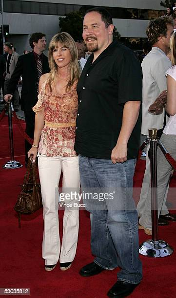 Actor Jon Favreau and wife Joya Tillem arrives at the premiere of Mr and Mrs Smith at the Mann Village Theater on June 7 2005 in Westwood California