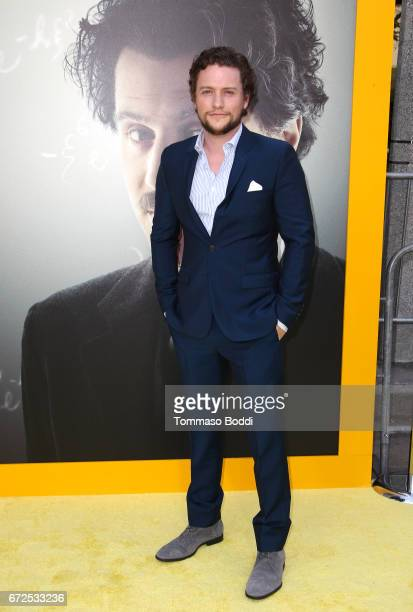 Actor Jon Fletcher attends the Los Angeles Premiere Screening of National Geographics 'Genius' the Fox Theater on April 24 2017 in Los Angeles...