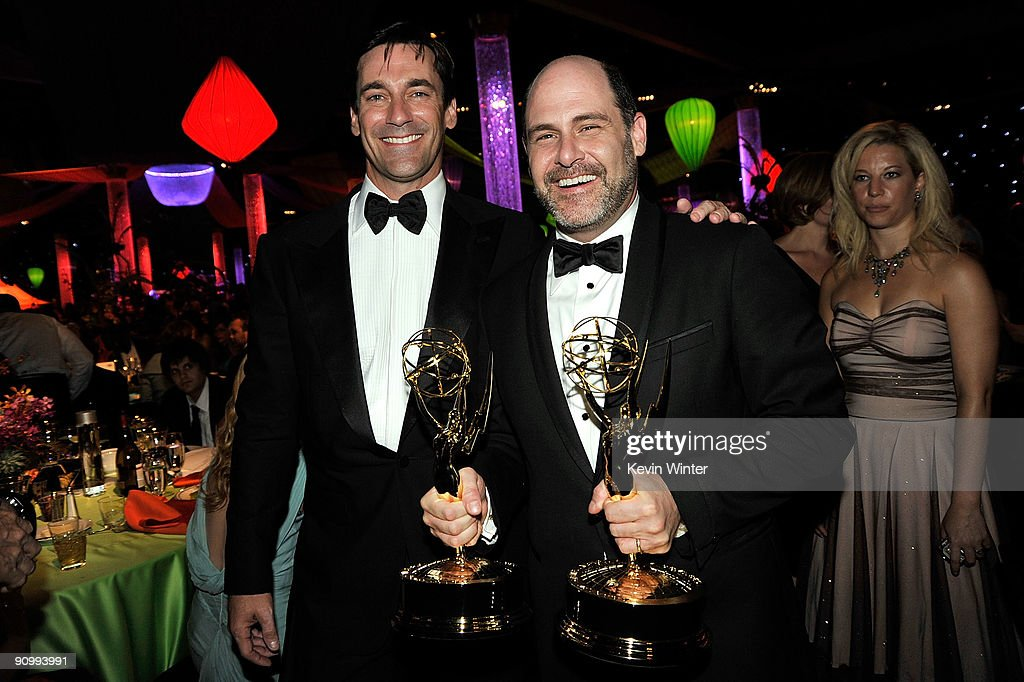 Actor Jon Hamm and creator/exectutive producer Matthew Weiner of 'Mad Men' attend the Governors Ball for the 61st Primetime Emmy Awards held at the Los Angeles Convention Center on September 20, 2009 in Los Angeles, California.
