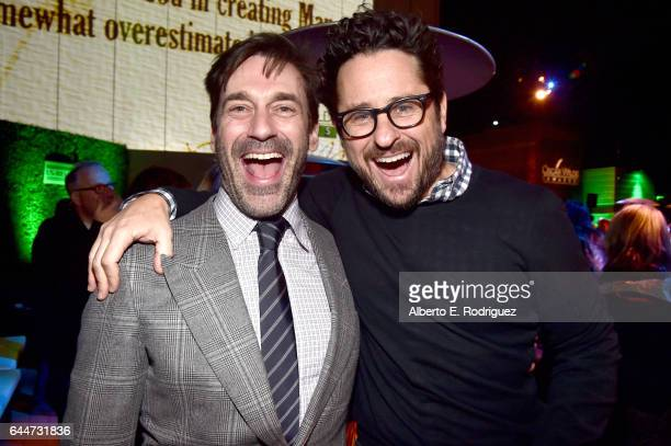 Actor Jon Hamm and director JJ Abram attend the 12th Annual USIreland Aliiance's Oscar Wilde Awards event at Bad Robot on February 23 2017 in Santa...