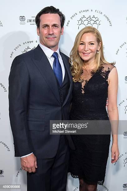 Actor Jon Hamm and Jennifer Westfeldt attend the 2014 New York Stage And Film Winter Gala at The Plaza Hotel on November 16 2014 in New York City