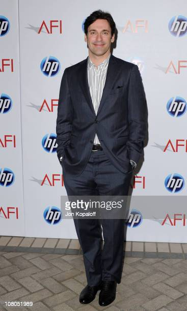 Actor Jon Hamm arrives at the 2011 AFI Awards at The Four Seasons Hotel on January 14, 2011 in Beverly Hills, California.