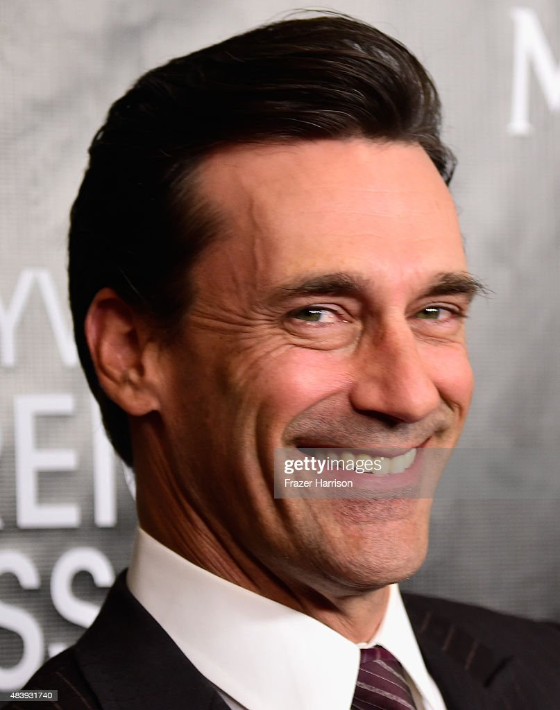 Actor Jon Hamm arrives at the Hollywood Foreign Press Association Hosts Annual Grants Banquet at the Beverly Wilshire Four Seasons Hotel on August 13, 2015 in Beverly Hills, California.