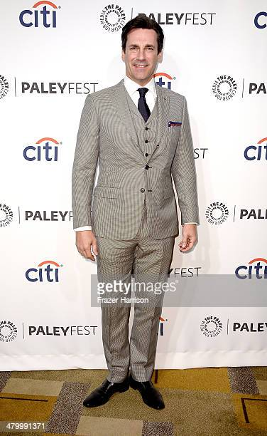 Actor Jon Hamm arrives at The Paley Center For Media's PaleyFest 2014 Honoring Mad Men at Dolby Theatre on March 21 2014 in Hollywood California