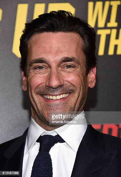 Actor Jon Hamm arrives at the premiere of 20th Century Fox's Keeping Up With The Joneses at Fox Studios on October 8 2016 in Los Angeles California
