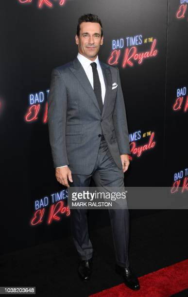 Actor Jon Hamm arrives for the premiere Of 20th Century FOX's Bad Time at the El Royale at the TCL Chinese Theater in Hollywood California on...