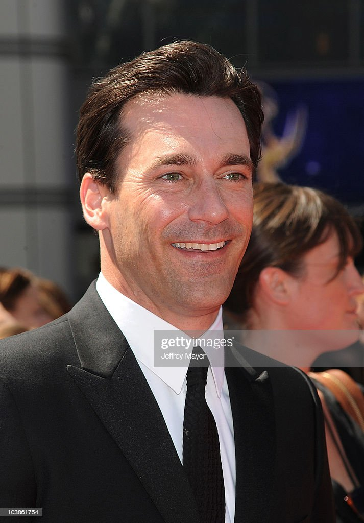 Actor Jon Hamm arrives to the 2010 Creative Arts Emmy Awards at Nokia Plaza L.A. LIVE on August 21, 2010 in Los Angeles, California.