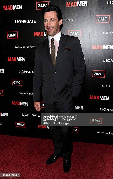 Actor Jon Hamm arrives to the season 4 premiere of AMC's Mad Men on July 20 2010 in Hollywood California