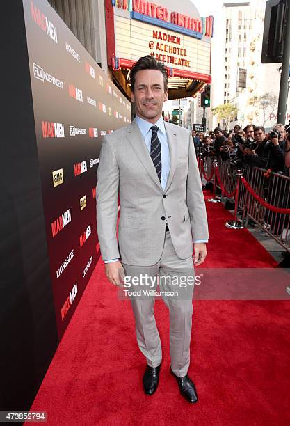 Actor Jon Hamm attends a 'Mad Men' Live Read and Series Finale Event at The Theater at The Ace Hotel on May 17 2015 in Los Angeles California