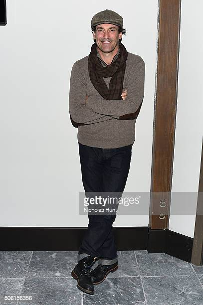 Actor Jon Hamm attends An Artist at the Table cocktails and dinner program benefit during 2016 Sundance Film Festival at the DeJoria Center on...