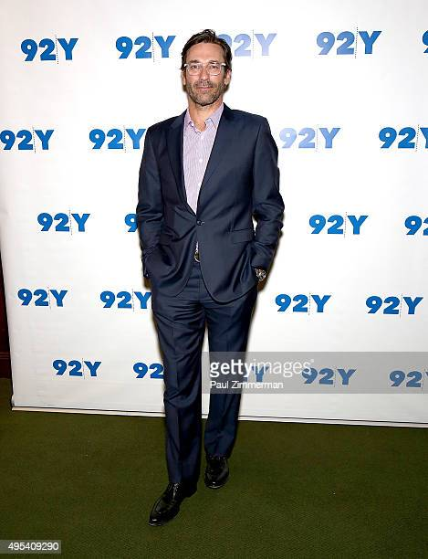 Actor Jon Hamm attends Aziz Ansari: 'Master Of None' screening and conversation at 92nd Street Y on November 2, 2015 in New York City.