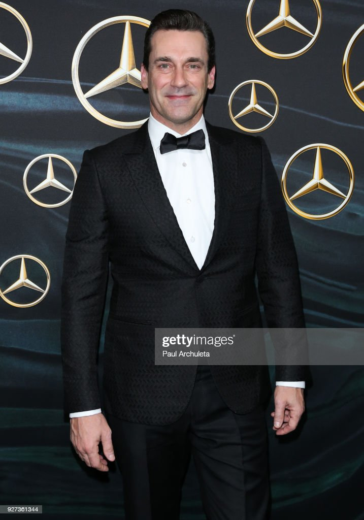 Actor Jon Hamm attends Mercedez-Benz USA's official Awards viewing party at The Four Seasons Hotel Los Angeles at Beverly Hills on March 4, 2018 in Los Angeles, California.