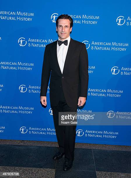 Actor Jon Hamm attends the 2015 American Museum of Natural History Museum Gala at American Museum of Natural History on November 19 2015 in New York...