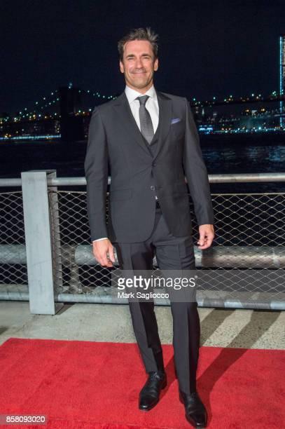 Actor Jon Hamm attends the 2017 Brooklyn Bridge Park Conservancy Brooklyn Black Tie Ball at Pier 2 at Brooklyn Bridge Park on October 5 2017 in the...