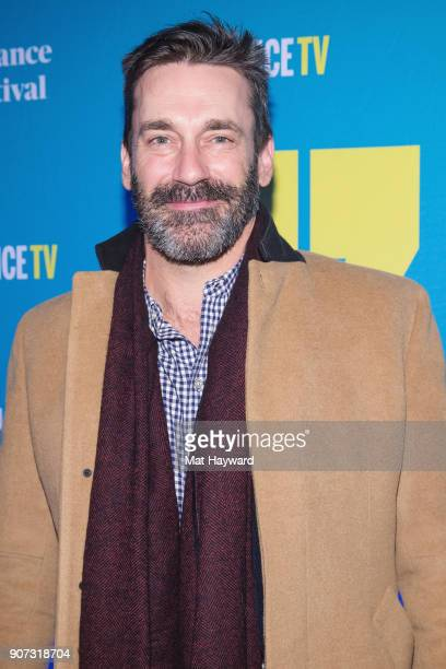 Actor Jon Hamm attends the 2018 Sundance Film Festival Official Kickoff Party Hosted By SundanceTV at Sundance TV HQ on January 19, 2018 in Park...