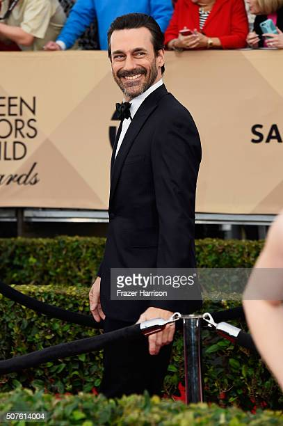 Actor Jon Hamm attends the 22nd Annual Screen Actors Guild Awards at The Shrine Auditorium on January 30, 2016 in Los Angeles, California.