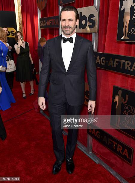 Actor Jon Hamm attends the 22nd Annual Screen Actors Guild Awards at The Shrine Auditorium on January 30 2016 in Los Angeles California