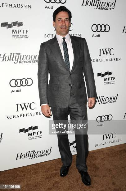 Actor Jon Hamm attends the 2nd annual Reel Stories Real Lives benefiting the Motion Picture Television Fund at Milk Studios on October 20 2012 in...