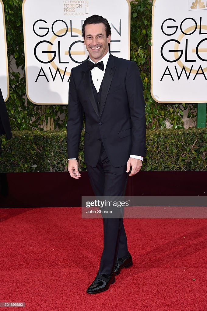 Actor Jon Hamm attends the 73rd Annual Golden Globe Awards held at the Beverly Hilton Hotel on January 10, 2016 in Beverly Hills, California.