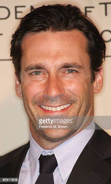 Actor Jon Hamm attends the Academy of Television Arts Sciences and the Writers Peer Group Emmy nominee party for outstanding writing at the Skirball...