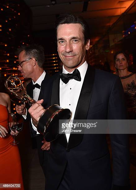 Actor Jon Hamm attends the AMC BBC America IFC And SundanceTV Emmy After Party at BOA Steakhouse on September 20 2015 in West Hollywood California