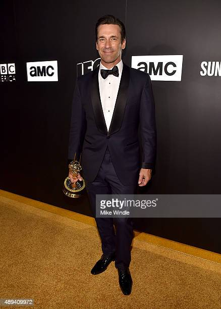 Actor Jon Hamm attends the AMC, BBC America, IFC And SundanceTV Emmy After Party at BOA Steakhouse on September 20, 2015 in West Hollywood,...
