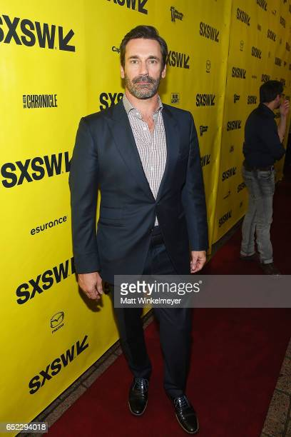 Actor Jon Hamm attends the 'Baby Driver' premiere 2017 SXSW Conference and Festivals on March 11 2017 in Austin Texas