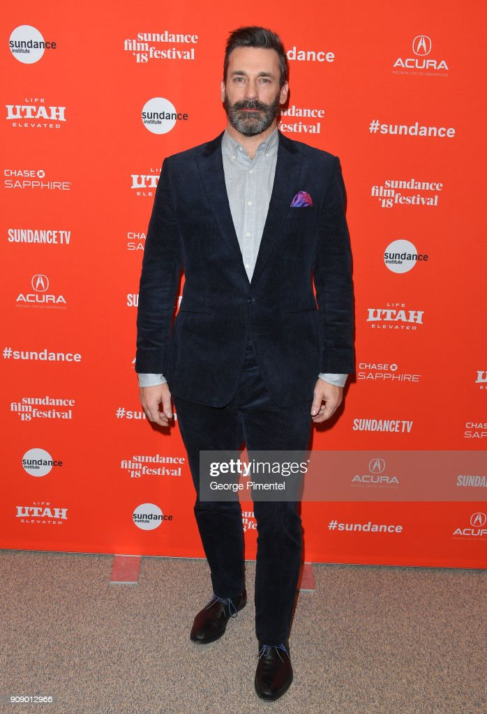 Actor Jon Hamm attends the 'Beirut' Premiere during the 2018 Sundance Film Festival at Eccles Center Theatre on January 22, 2018 in Park City, Utah.