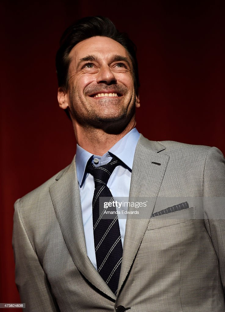 Actor Jon Hamm attends the Film Independent at LACMA special screening of the final episode of 'Mad Men' at The Ace Hotel Theater on May 17, 2015 in Los Angeles, California.