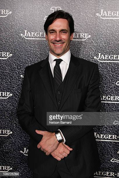 Actor Jon Hamm attends the Jaeger-LeCoultre event celebrating the New Hybris Mechanica at a Private Residence on October 12, 2010 in New York City.
