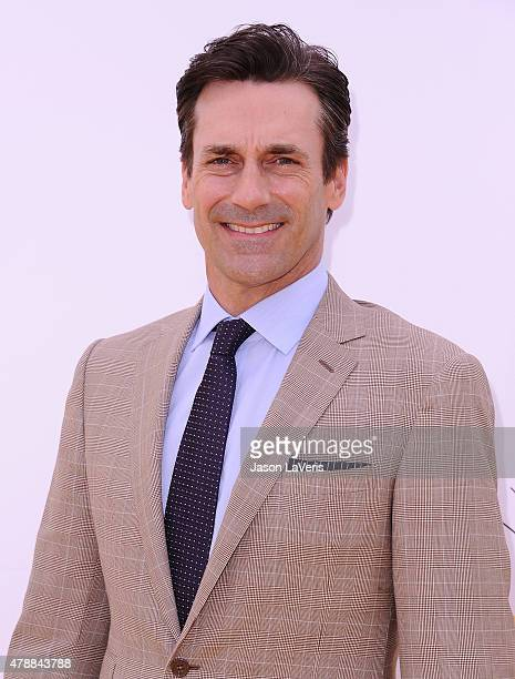 Actor Jon Hamm attends the premiere of 'Minions' at The Shrine Auditorium on June 27 2015 in Los Angeles California