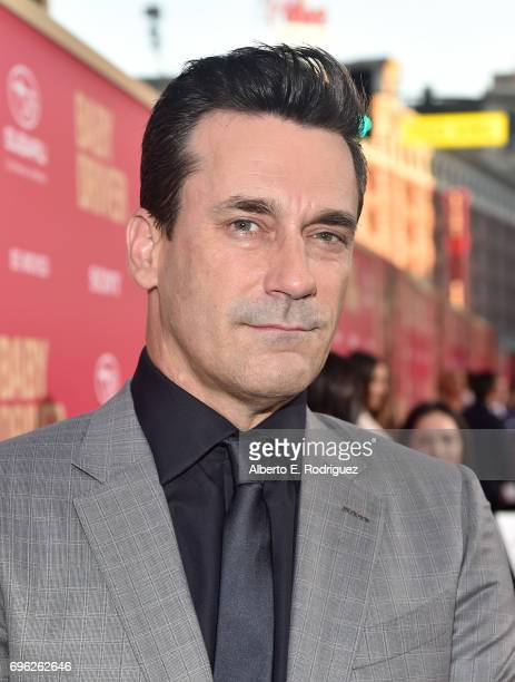 Actor Jon Hamm attends the premiere of Sony Pictures' 'Baby Driver' at Ace Hotel on June 14 2017 in Los Angeles California