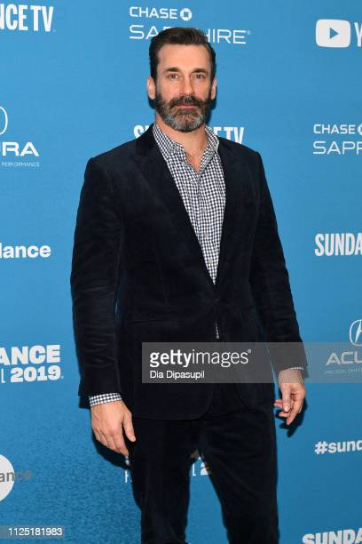 "Actor Jon Hamm attends the ""The Report"" Premiere during the 2019 Sundance Film Festival at Eccles Center Theatre on January 26, 2019 in Park City,..."