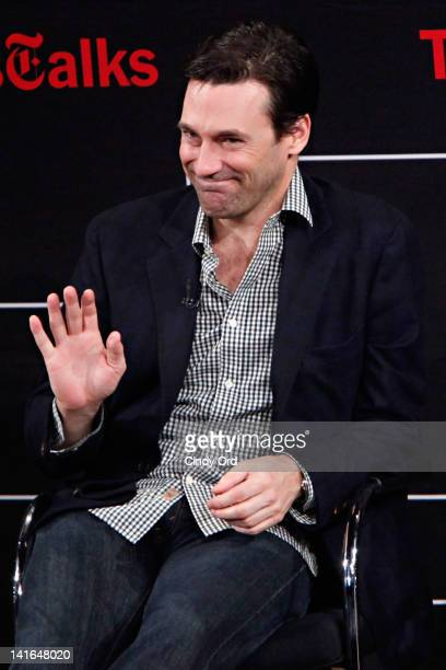 Actor Jon Hamm attends the TimesTalk A Conversation with the Cast of 'Mad Men' at The Times Center on March 20 2012 in New York City