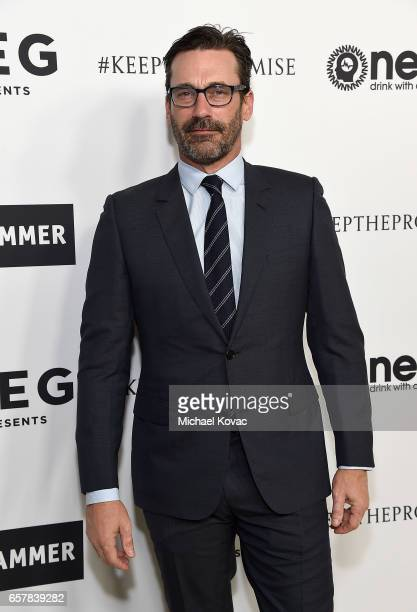 Actor Jon Hamm celebrates Elton John's 70th Birthday and 50Year Songwriting Partnership with Bernie Taupin benefiting the Elton John AIDS Foundation...