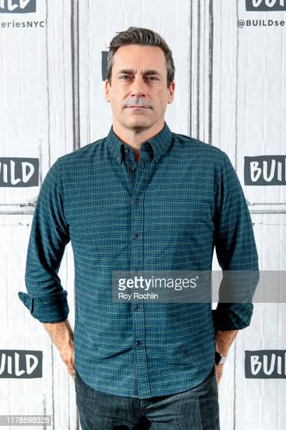 "Actor Jon Hamm discusses ""Lucy in the Sky"" with the Build Series at Build Studio on October 02, 2019 in New York City."