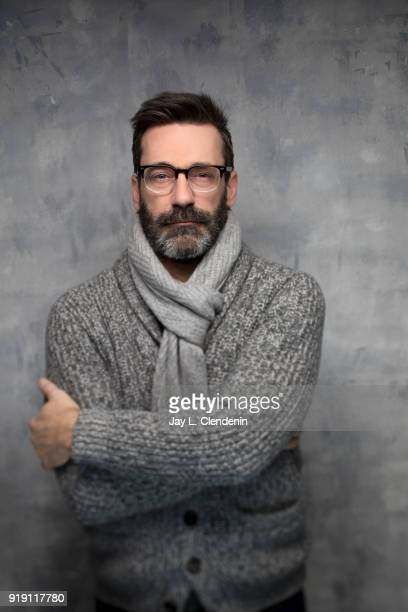 Actor Jon Hamm from the film 'Beirut' is photographed for Los Angeles Times on January 23 2018 in the LA Times Studio at Chase Sapphire on Main...