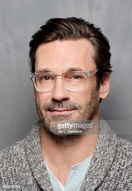Actor Jon Hamm from the film Marjorie Prime is photographed at the 2017 Sundance Film Festival for Los Angeles Times on January 24 2017 in Park City...