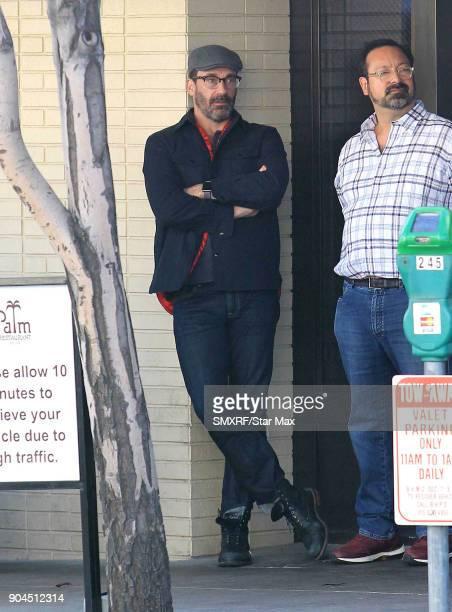 Actor Jon Hamm is seen on January 12 2018 in Los Angeles CA