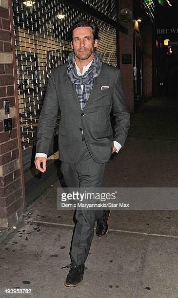 Actor Jon Hamm is seen on October 17 2015 in New York City