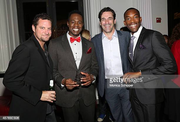 Actor Jon Hamm joins cast members of The Fortress of Solitude at The Public Theater's Opening Night Celebration Of The Fortress Of Solitude Opening...
