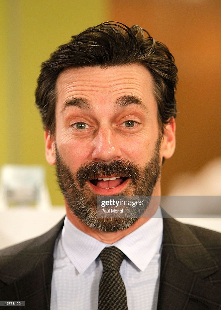 Actor Jon Hamm poses for a photo during the Smithsonian's Museum Of American History: Mad Men Artifact Donation Ceremony at the National Museum Of American History on March 27, 2015 in Washington, DC.