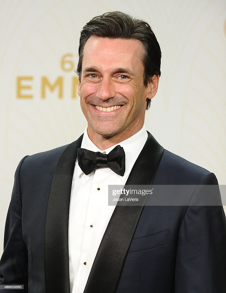 Actor Jon Hamm poses in the press room at the 67th annual Primetime Emmy Awards at Microsoft Theater on September 20, 2015 in Los Angeles, California.