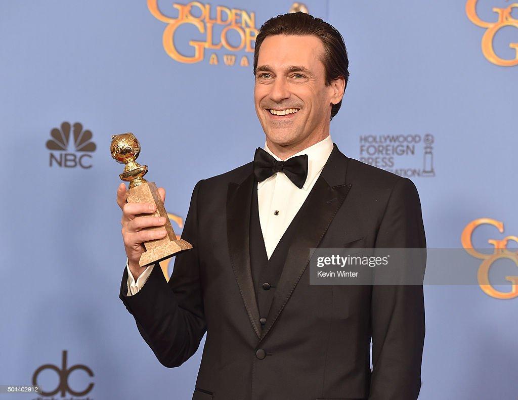 73rd Annual Golden Globe Awards - Press Room : News Photo