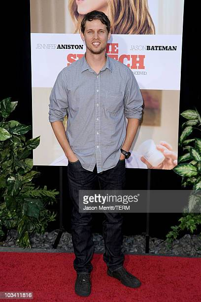 Actor Jon Heder arrives at the premiere of Miramax's The Switch held at Arclight Hollywood at the Cinerama Dome on August 16 2010 in Los Angeles...