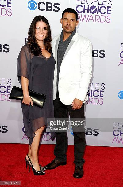 Actor Jon Huertas and guest attends the 2013 People's Choice Awards at Nokia Theatre LA Live on January 9 2013 in Los Angeles California
