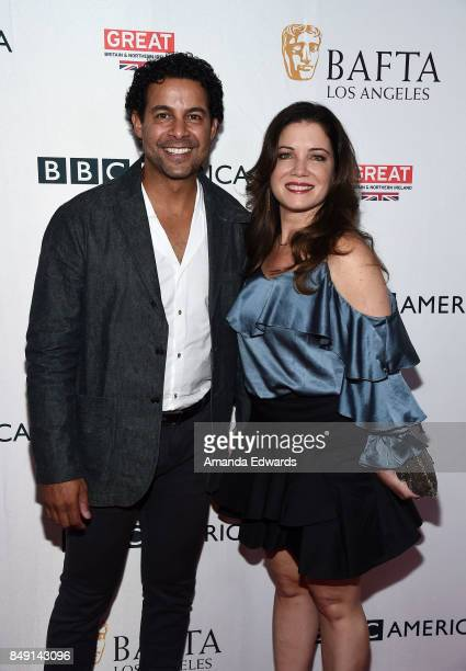 Actor Jon Huertas and Nicole Huertas arrive at the BBC America BAFTA Los Angeles TV Tea Party 2017 at The Beverly Hilton Hotel on September 16 2017...