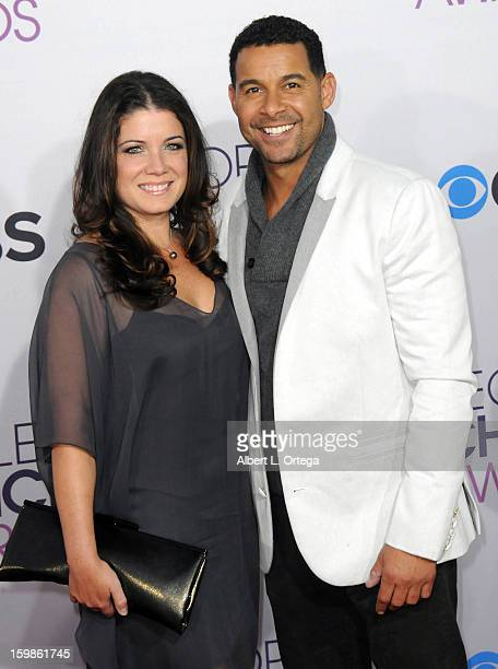Actor Jon Huertas and wife arrive for the 34th Annual People's Choice Awards Arrivals held at Nokia Theater at LA Live on January 9 2013 in Los...